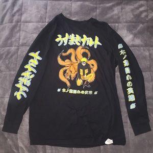 Naruto Shipuden Kurama Nine Trails Anime T Shirt